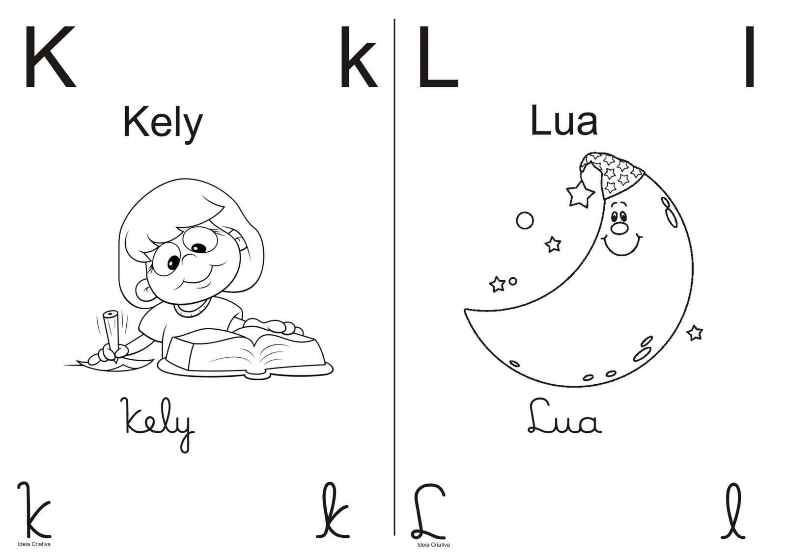 Alfabeto Pra Colorir Meio Ofício Letra Bastão E Cursiva