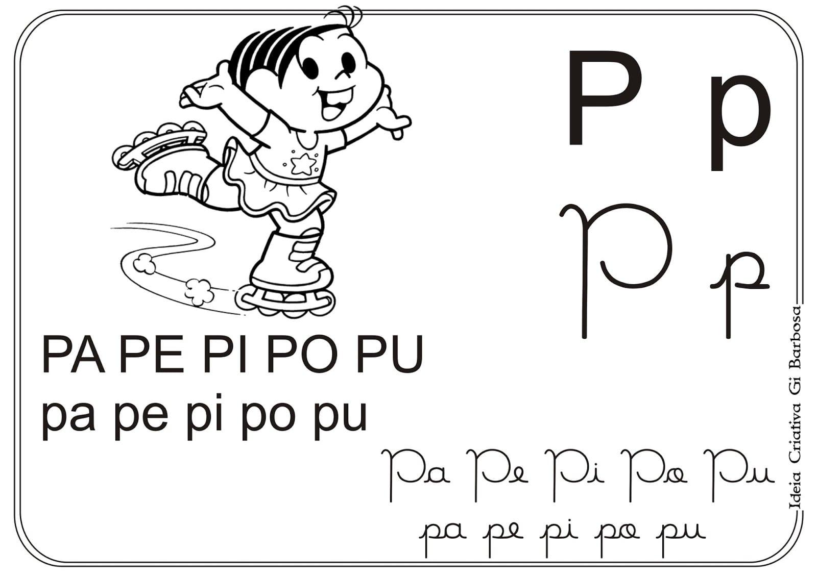 Alfabetos Ideia Criativa Silabário Turma Da Mônica Pra Colorir