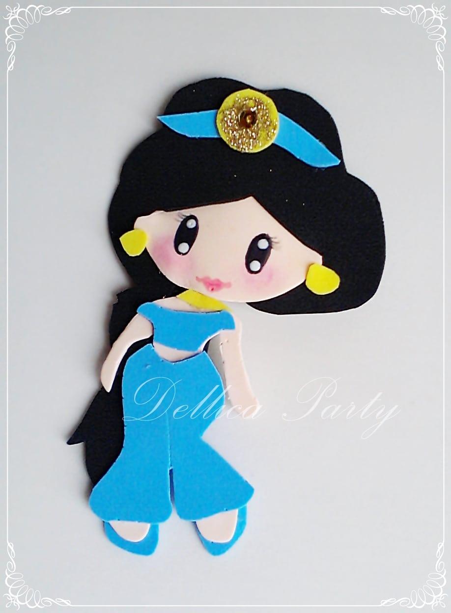 Aplique Princesa Jasmine No Elo7