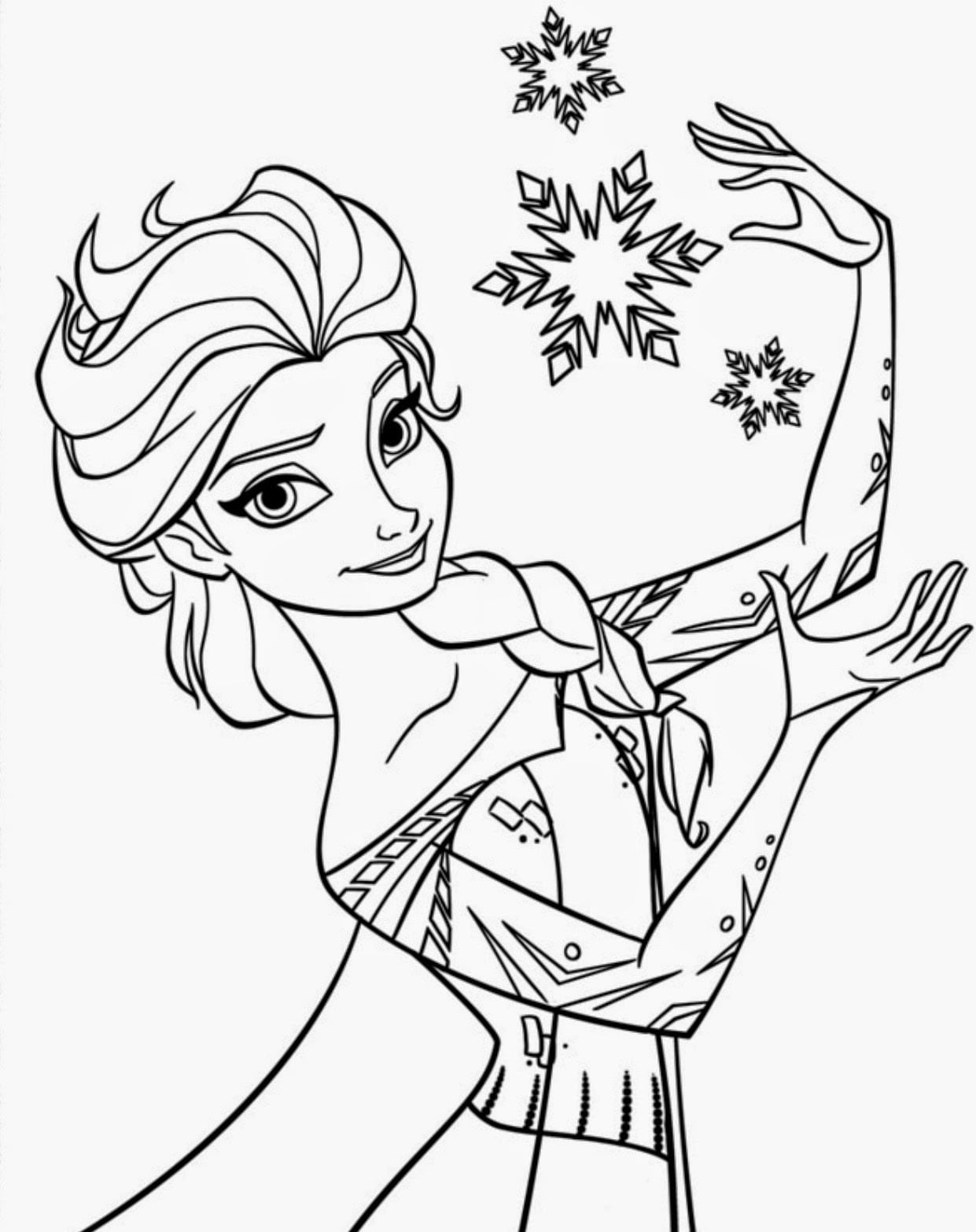 Desenho Para Colorir De Frozen
