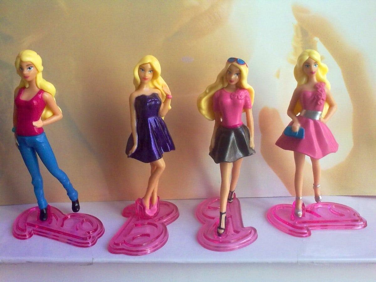 Barbie Figuras Miniatura De Huevo De Chocolate