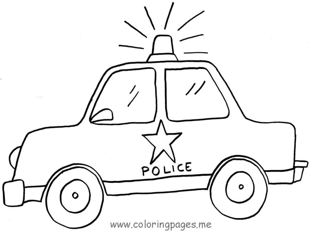 Desenhos De Carros De Polícia Para Colorir