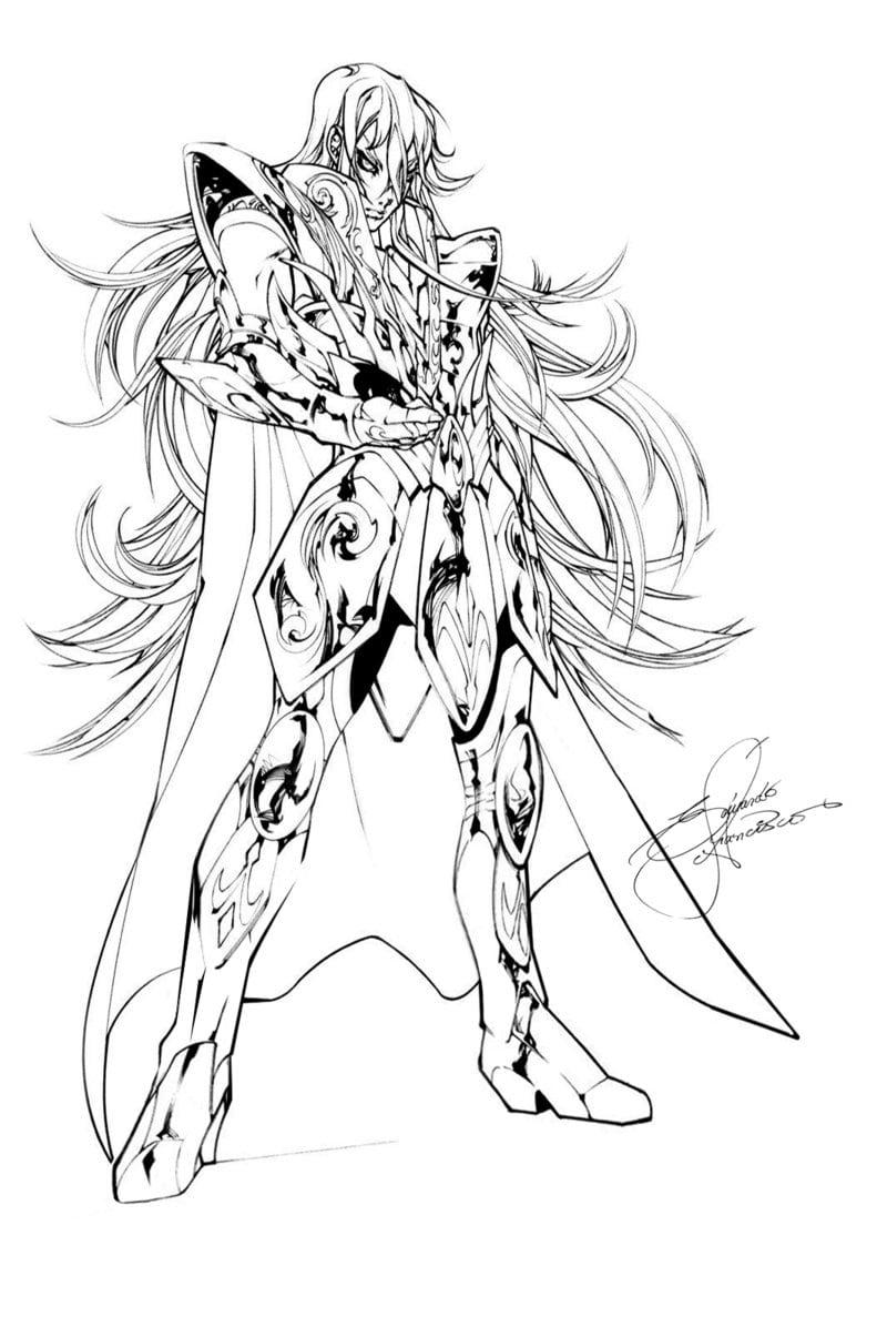 Cavaleiros Dos Zodiaco Para Colorir Sketch Coloring Page