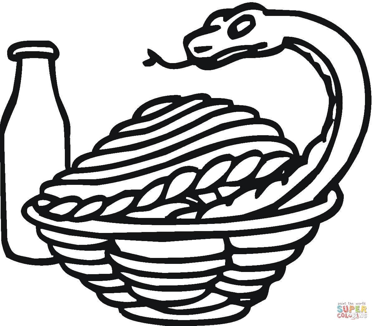 Dibujo De Una Cobra Real Para Colorear
