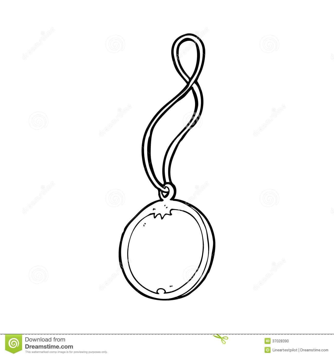 Colar Do Pendente Dos Desenhos Animados Ilustração Stock
