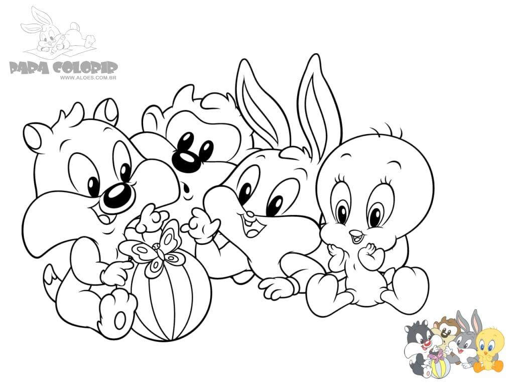 Baby Looney Tunes Para Colorir