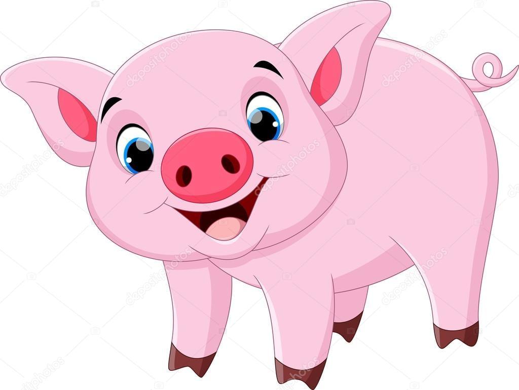 Desenho De Porco Bonito — Vetores De Stock © Irwanjos2  103446868