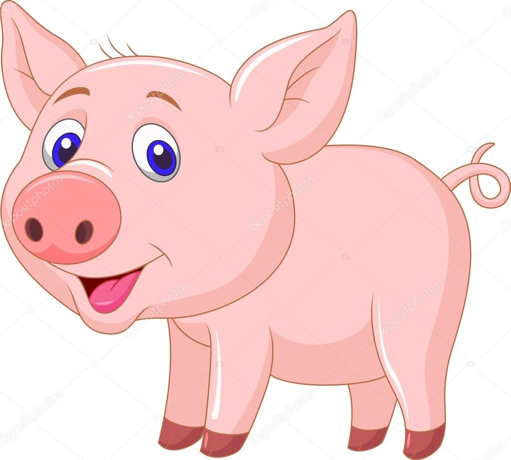 Desenho De Porco De Bebê Fofo — Vetores De Stock © Tigatelu  23940999