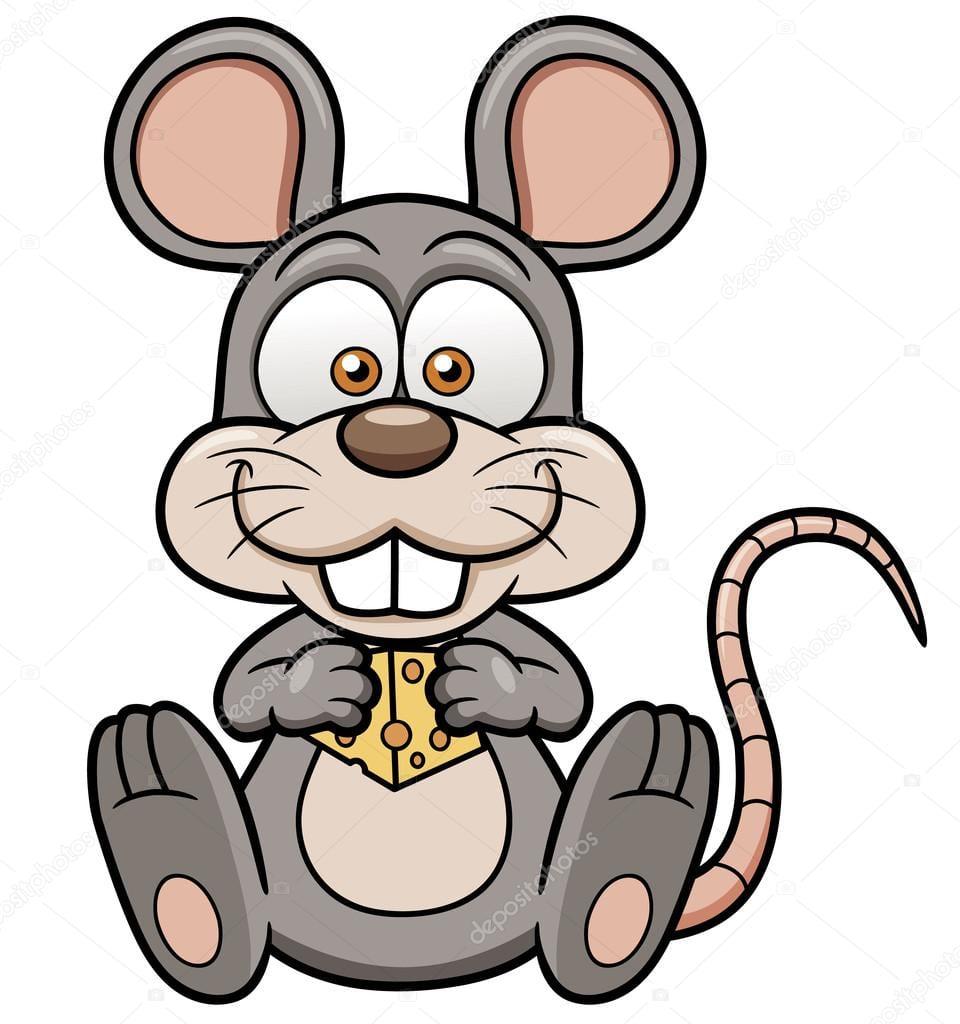 Rato De Desenho Animado Com Queijo — Vetores De Stock © Sararoom