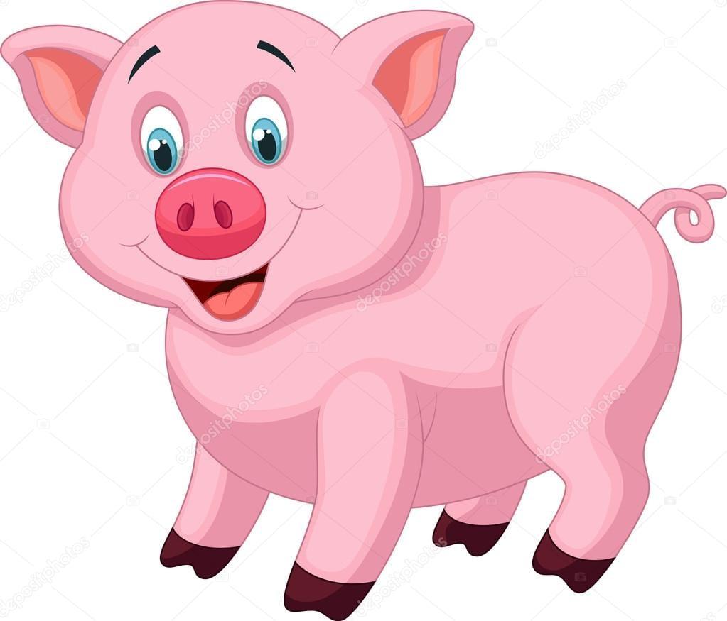 Desenho De Porco Bonito — Vetores De Stock © Tigatelu  32963041