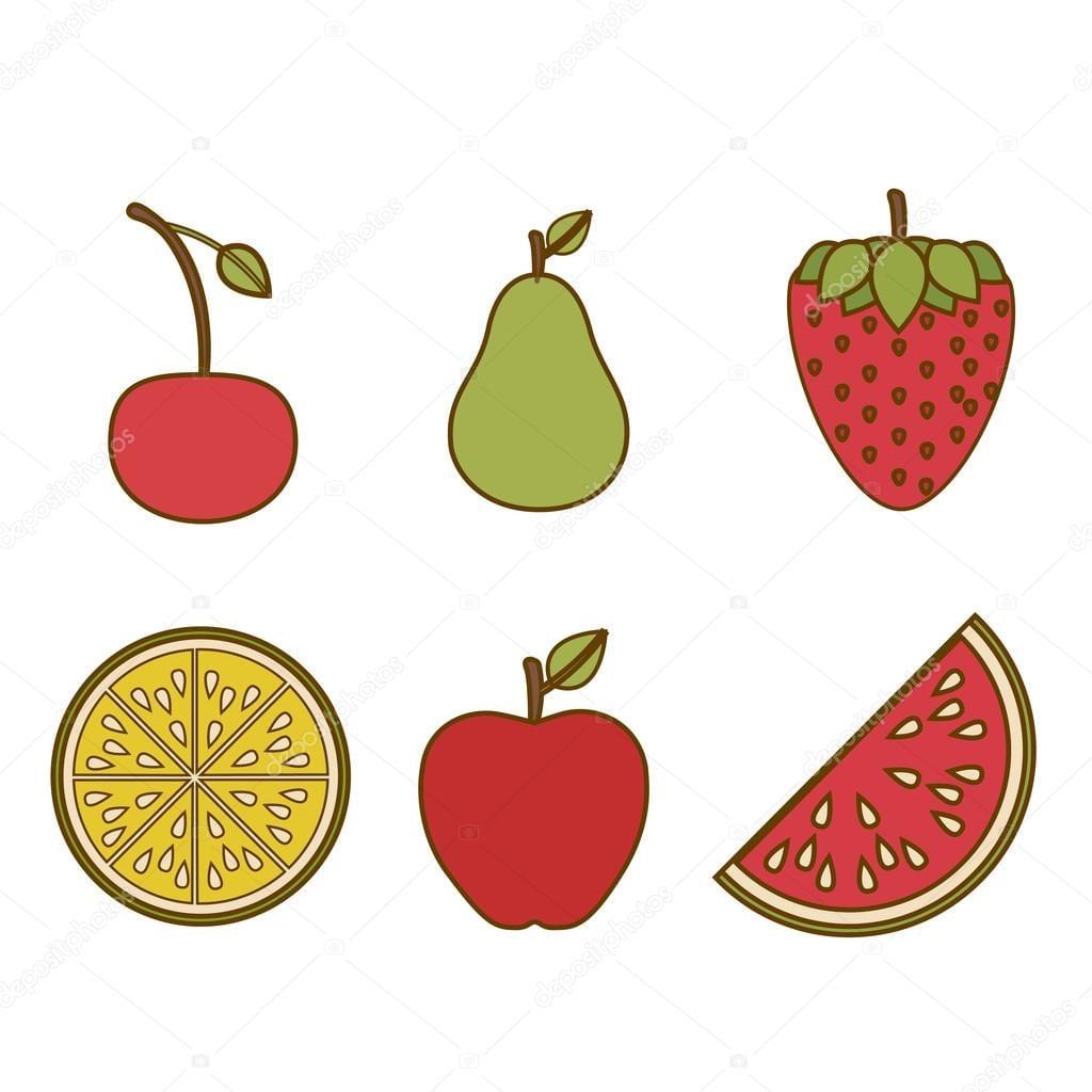 Desenho De Frutas — Vetores De Stock © Grgroupstock  38272393