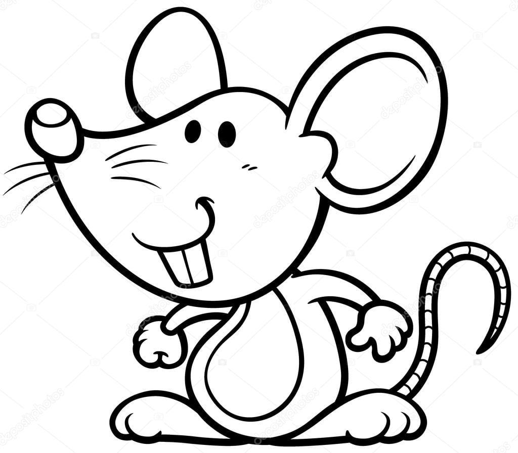 Rato Do Desenho Animado — Vetores De Stock © Sararoom  53142749