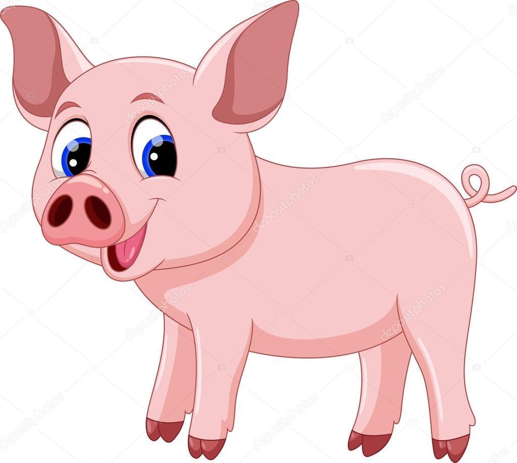 Desenho De Porco Bonito — Vetores De Stock © Irwanjos2  68519137