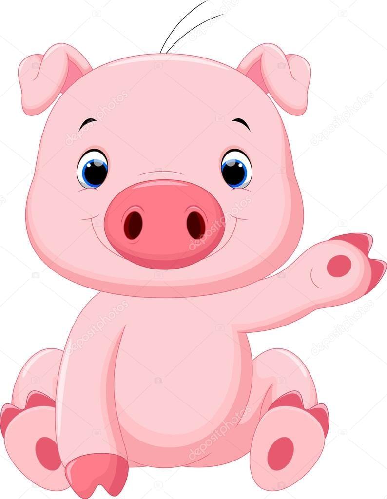 Desenho De Porco De Bebê Fofo — Vetores De Stock © Irwanjos2  88032558