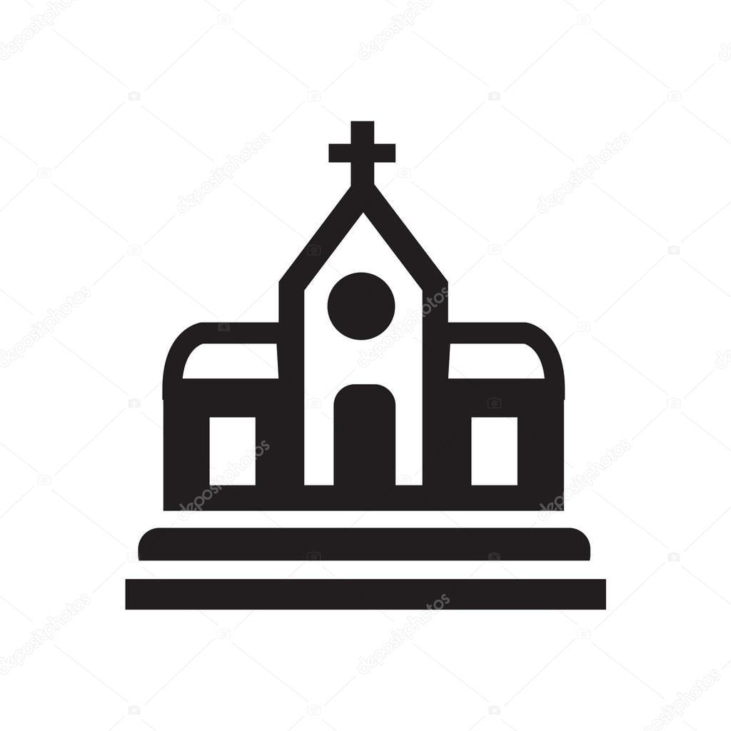 Igreja Do ícone ícone Desenho Eps 10 — Vetores De Stock © Icon