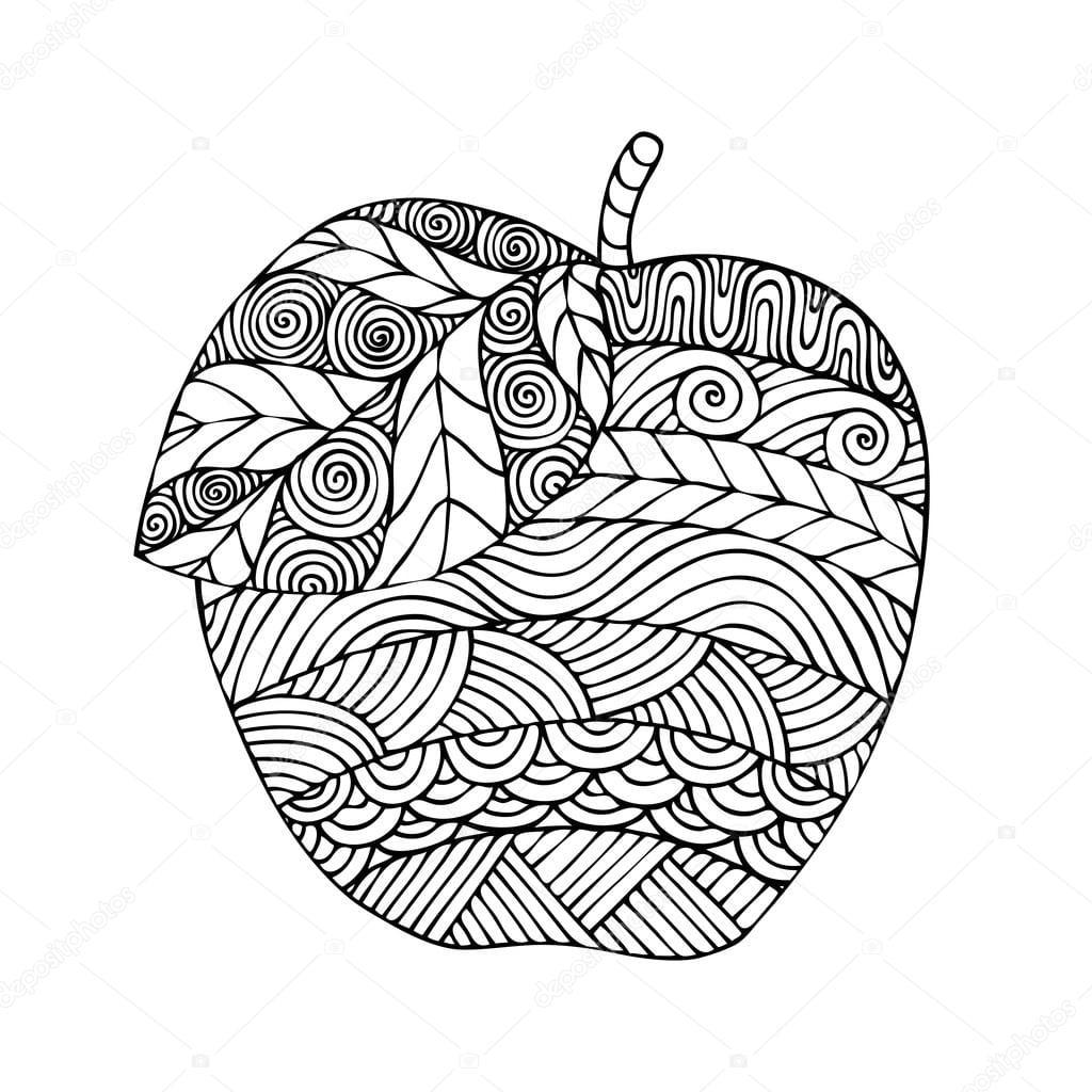 Adulto Para Colorir O Desenho De Página Do Livro Com A Imagem De