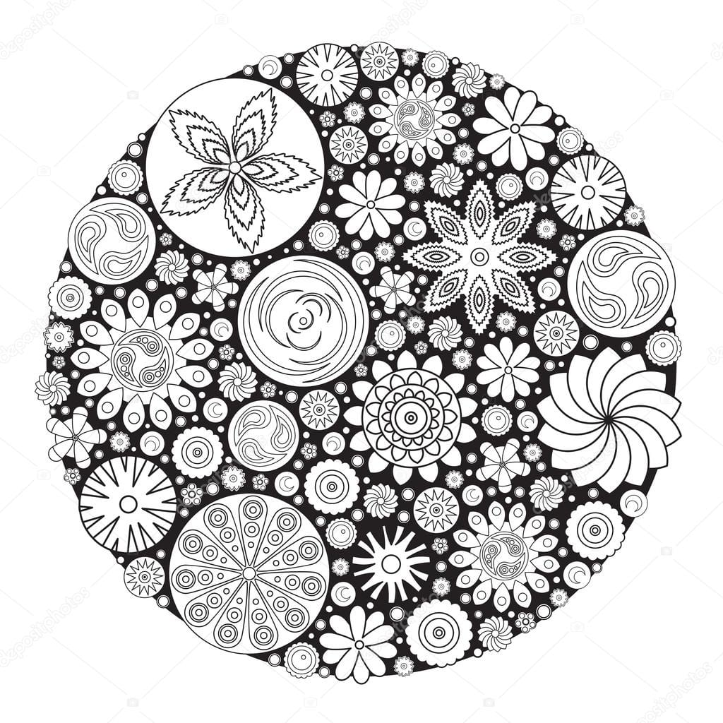 Desenho De Flor Para Colorir Livro Adultos Um Col On Desenhos Para