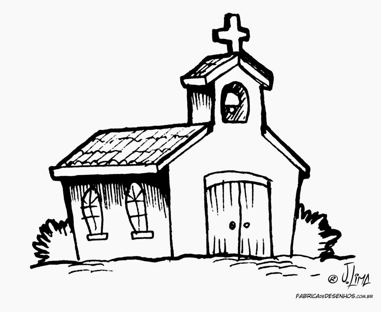 Desenho De Igreja Para Colorir
