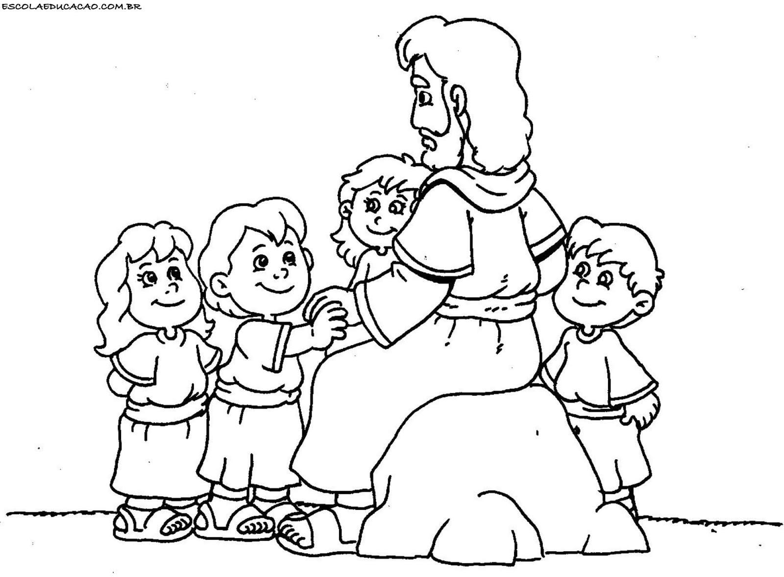 Cordeirinhos De Jesus  Desenhos Bíblicos Para Colorir