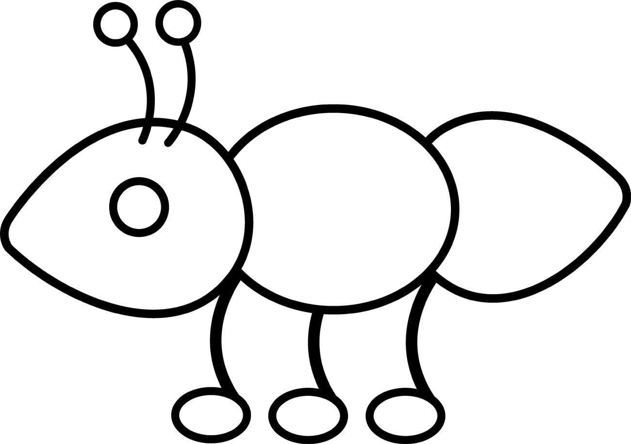 Desenhos Para Colorir De Formigas  Desenhoswiki Com