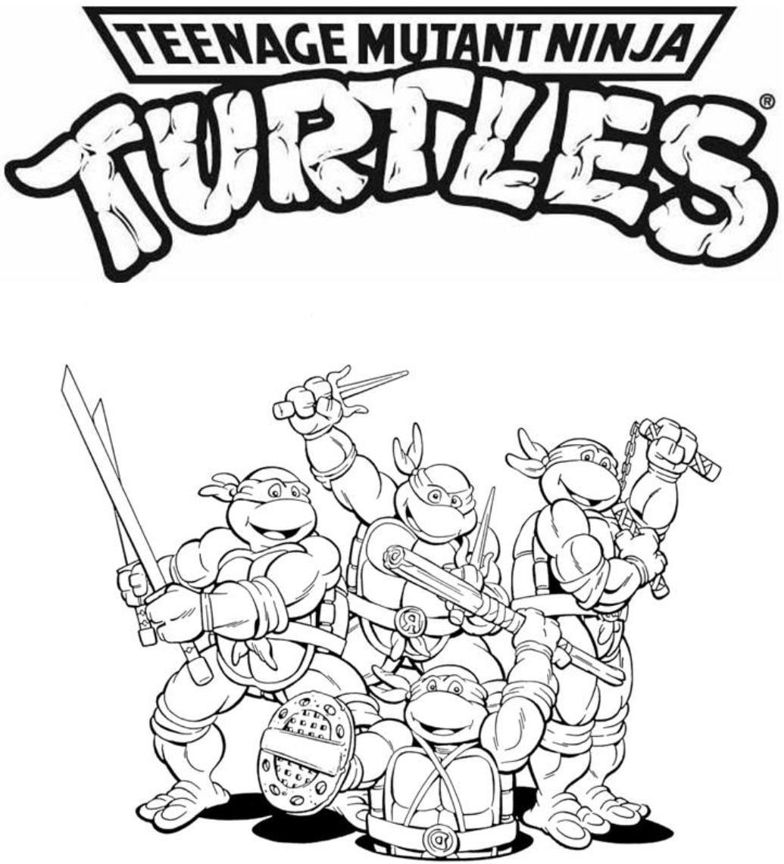 Tartaruga Ninja Para Colorir