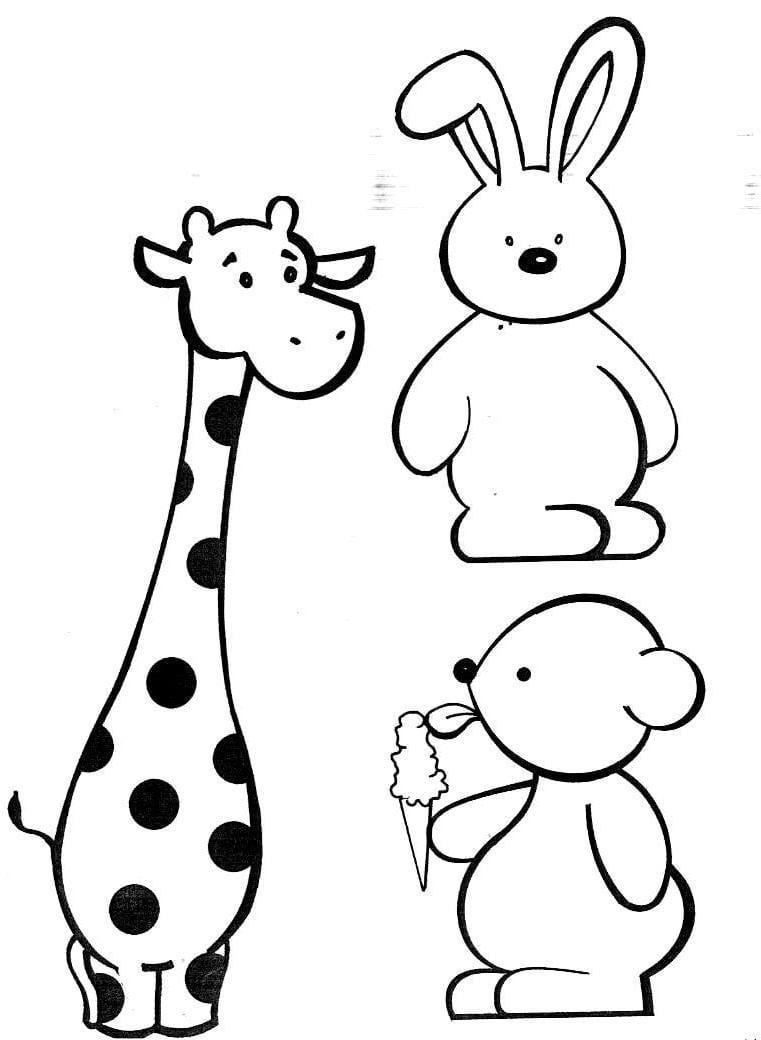 Figuras De Animais Para Colorir E Imprimir – Pampekids Net