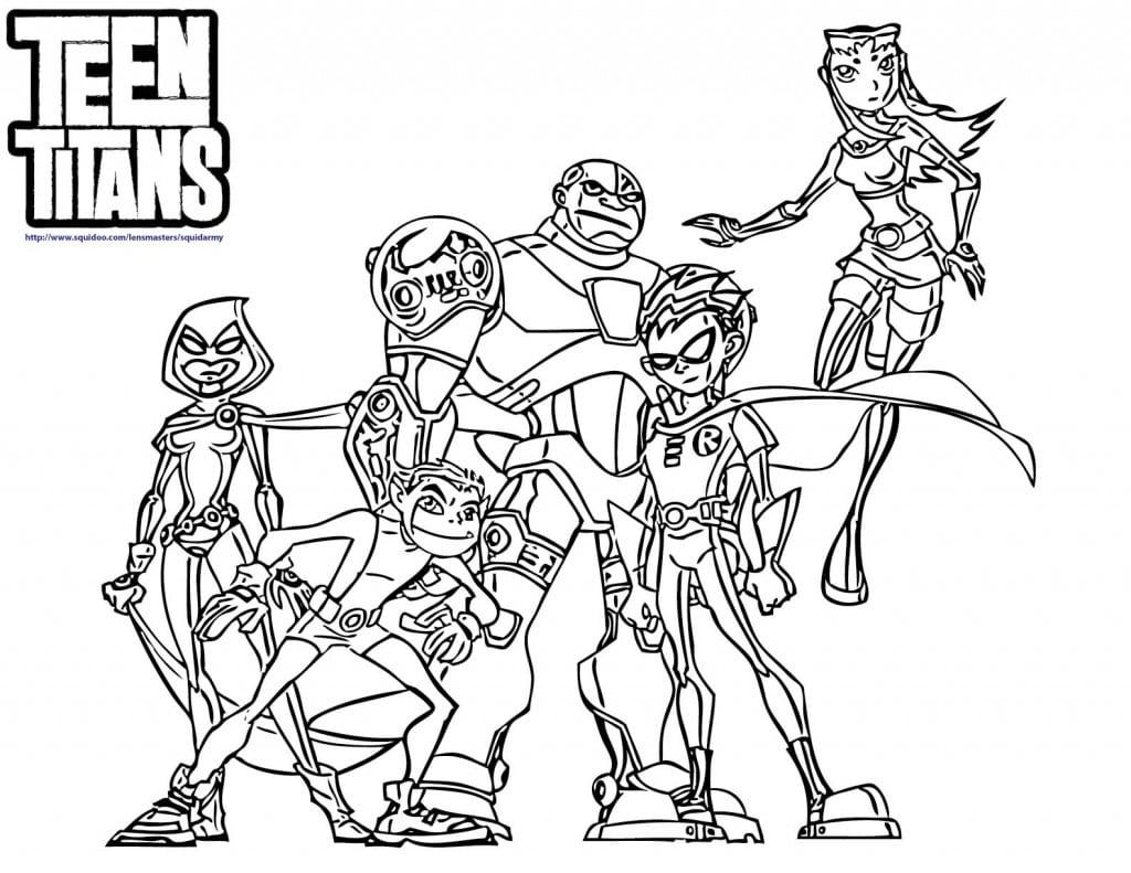 Jogo Desenhos Dos Jovens Titãs Para Colorir