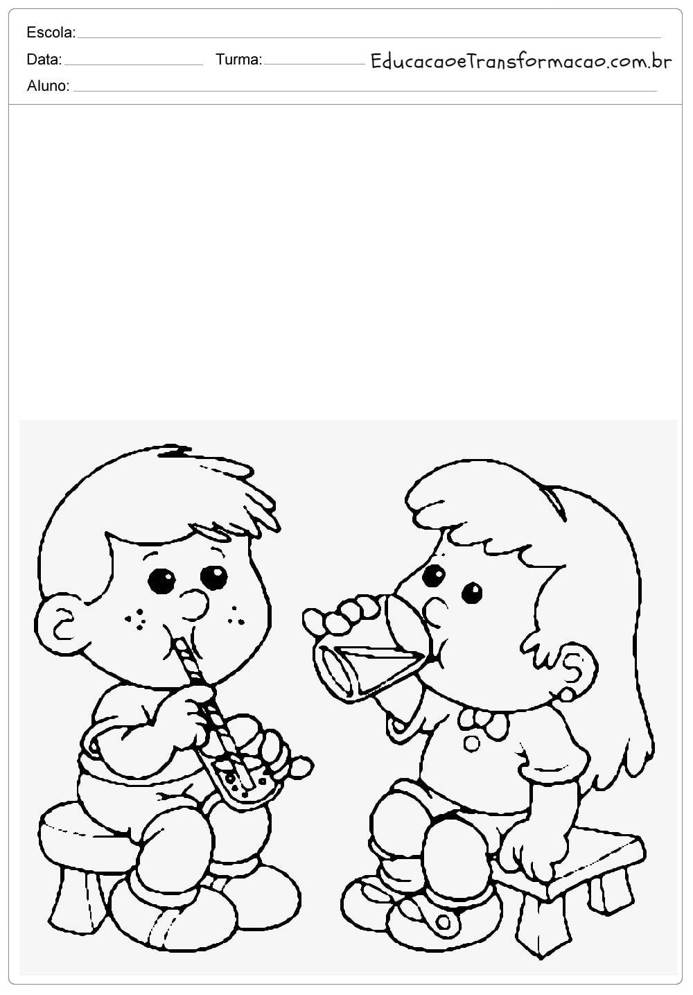 Desenhos Para Colorir De Meninos E Meninas
