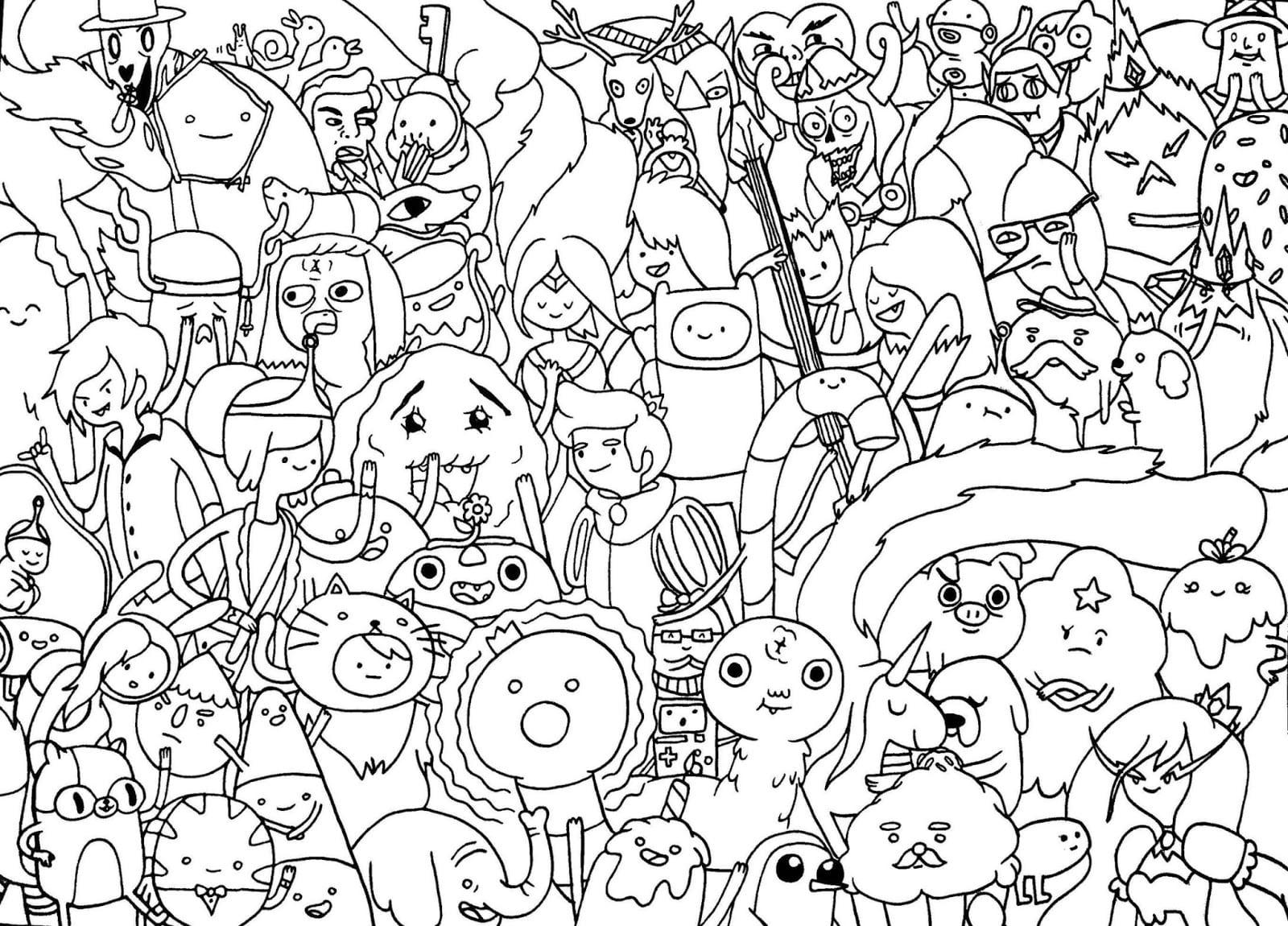 Desenhos Do Hora De Aventura Para Imprimir Colorir No Click Jogos