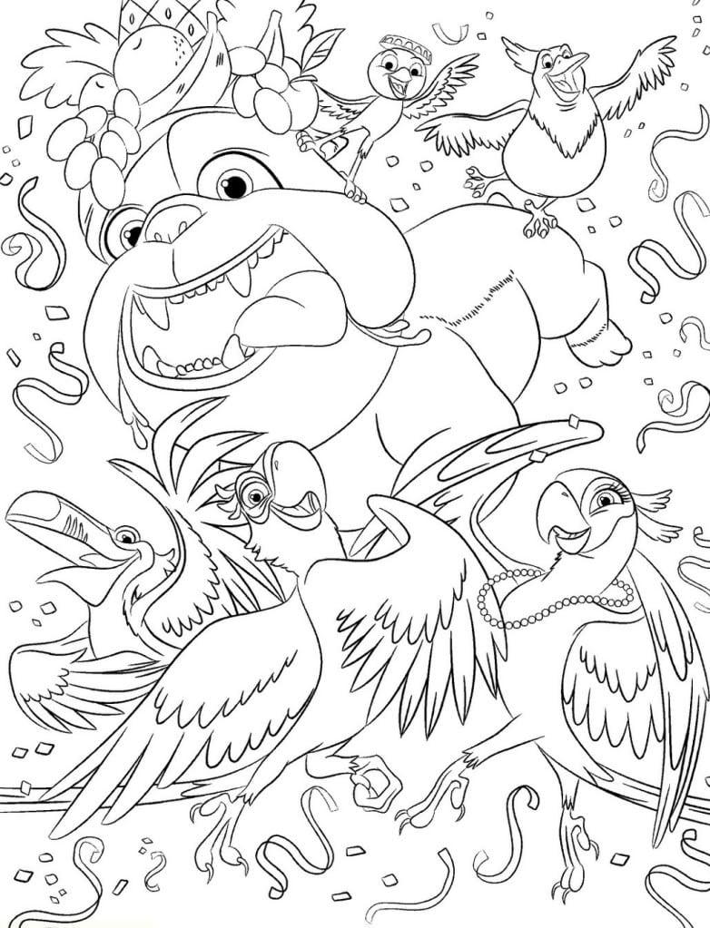 Jogo Desenhos Do Rio Para Colorir E Imprimir – Filme Rio Para