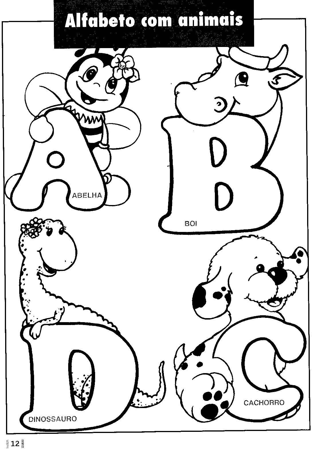 Alfabeto Vazado Para Colorir