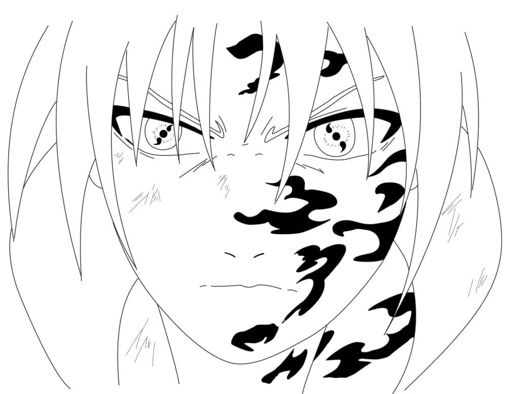 Desenhos Para Colorir Sasuke