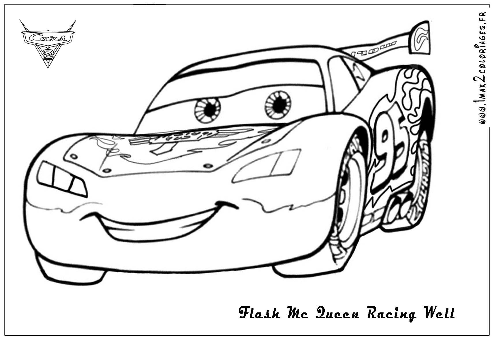 Desenho para colorir do mcqueen - Coloriages cars mcqueen ...