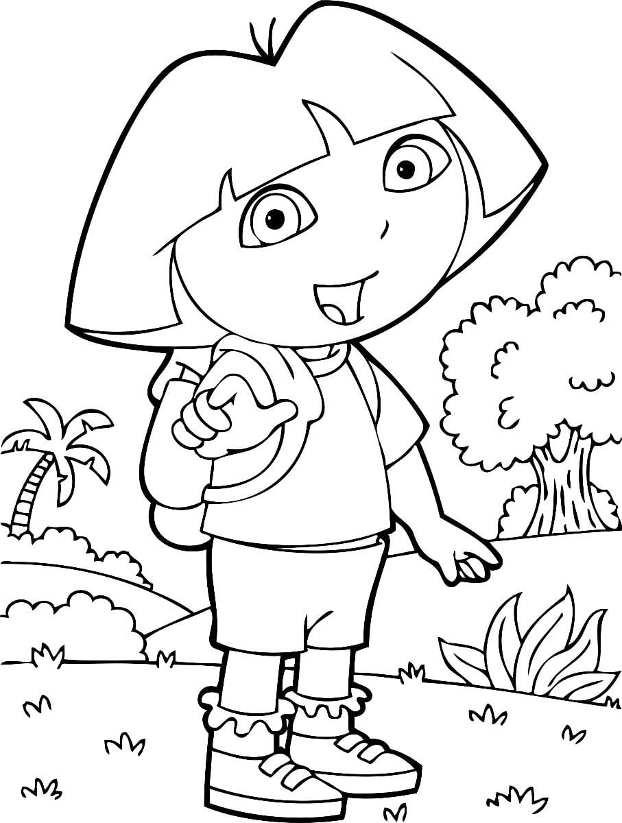 Dora Aventureira Para Colorir E Imprimir