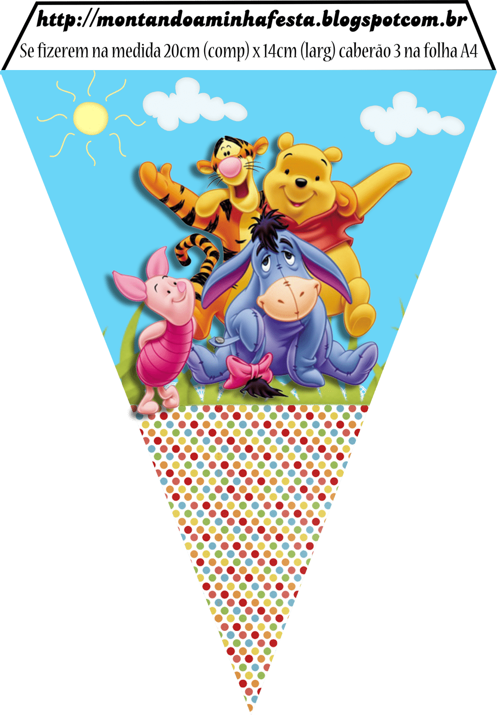 Montando Minha Festa  Kit Digital Ursinho Pooh Grátis Para