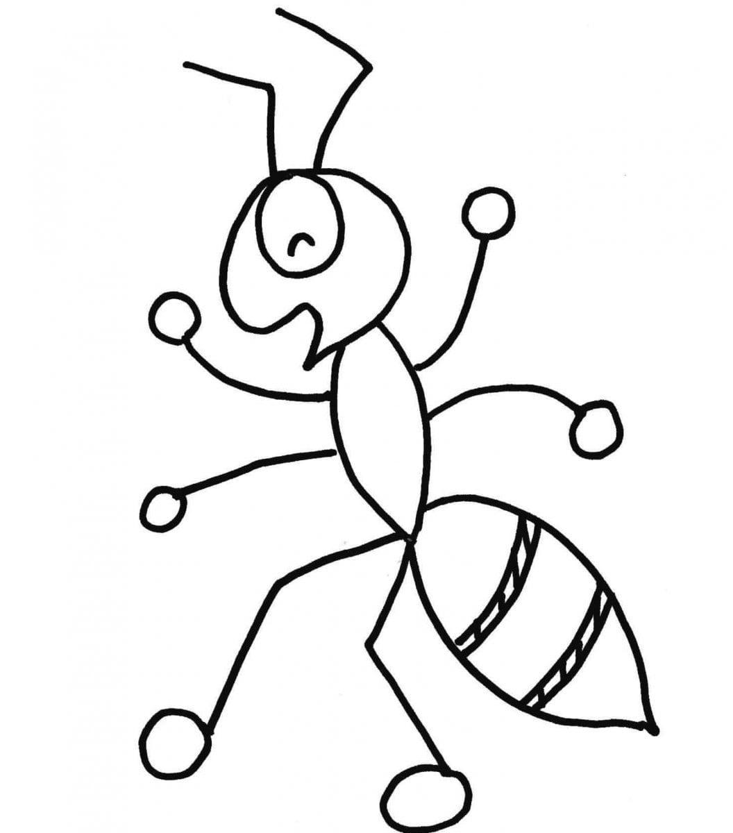 Desenhos Para Pintar De Formigas  Desenhos Para Colorir De Formigas