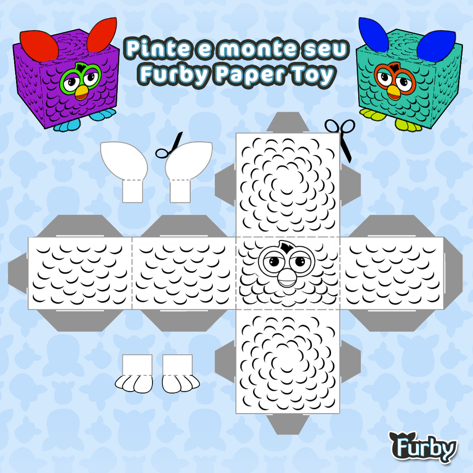 Desenhos Para Colorir Furby – Pampekids Net