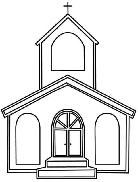 Igreja – Desenhos Para Colorir