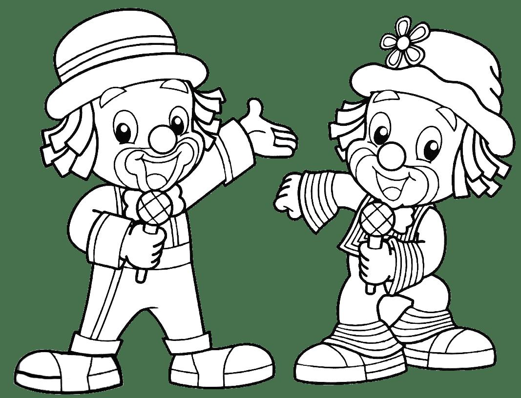 Desenho Do Patati E Patata Para Colorir