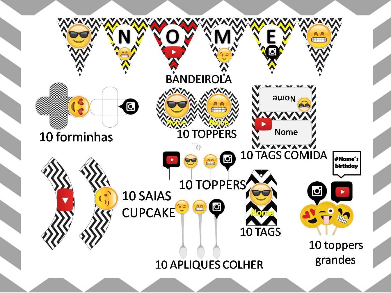 Kit Festa Emoji