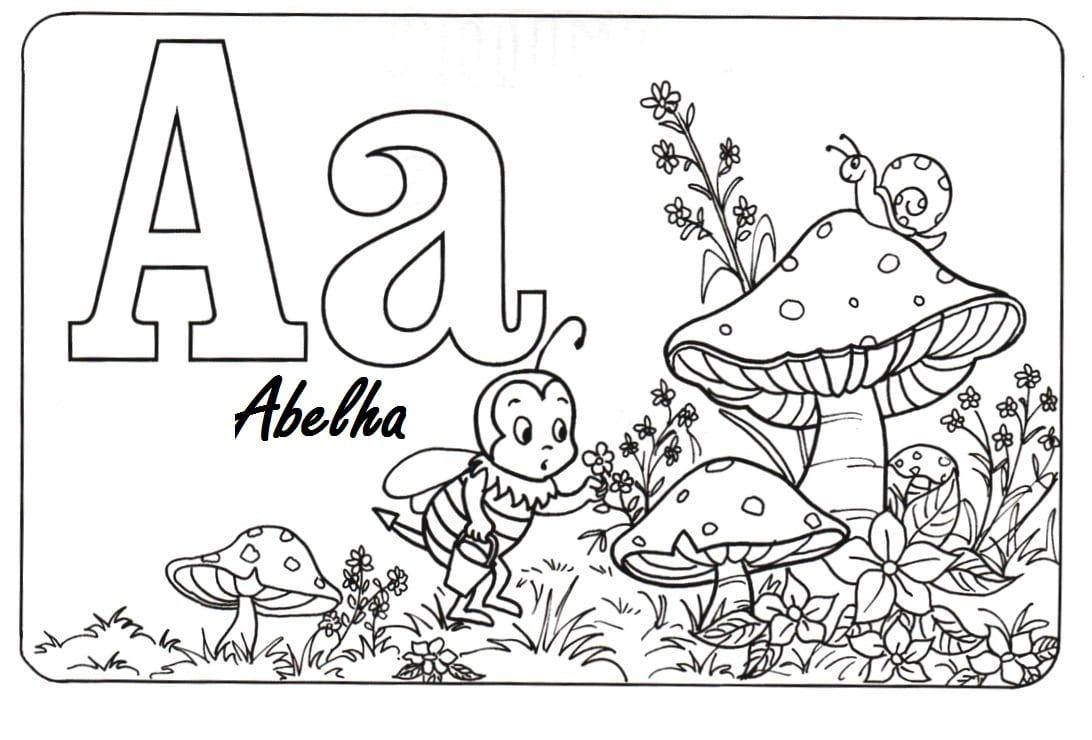 Letras Para Pintar  Imprima Os Dez Cartões!