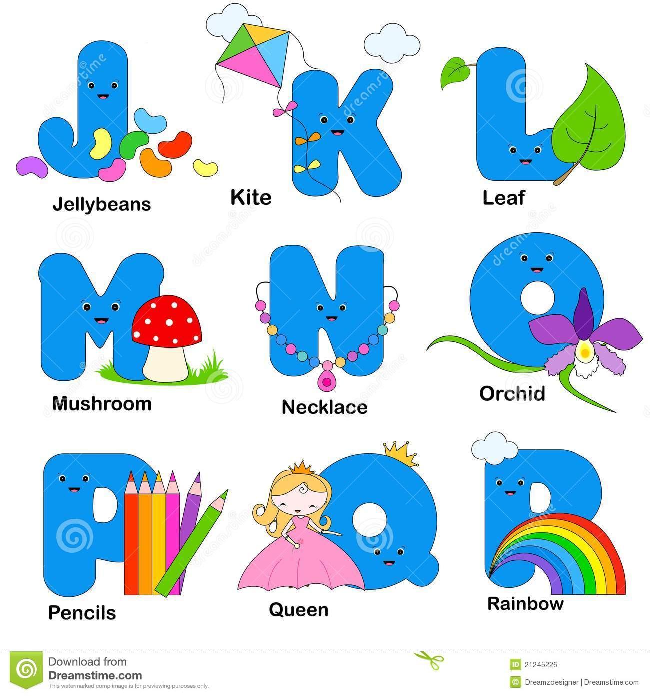Letras Do Alfabeto Ilustração Do Vetor  Ilustração De Instrução