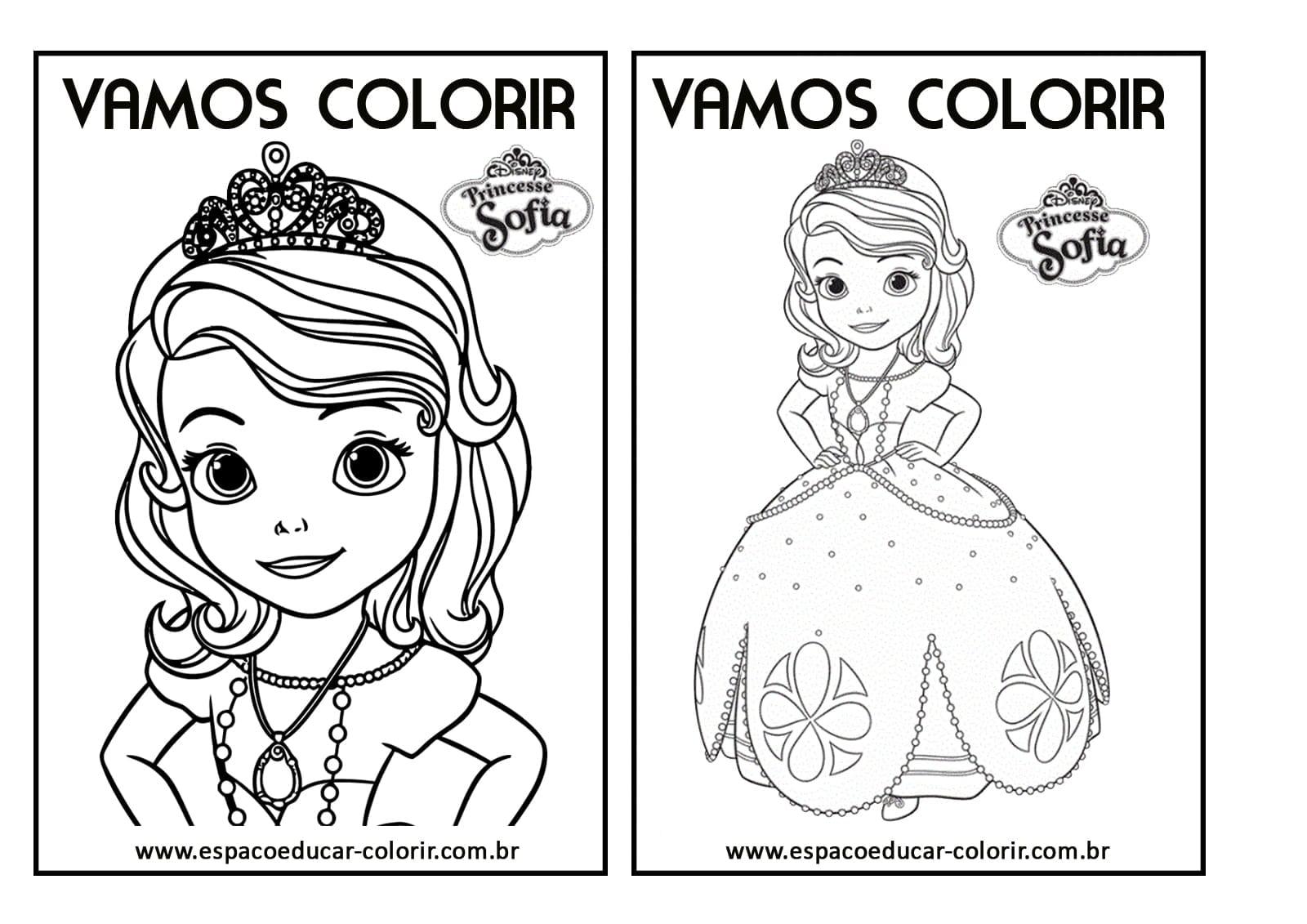 Desenhos De Princesas Para Colorir E Imprimir Gratis