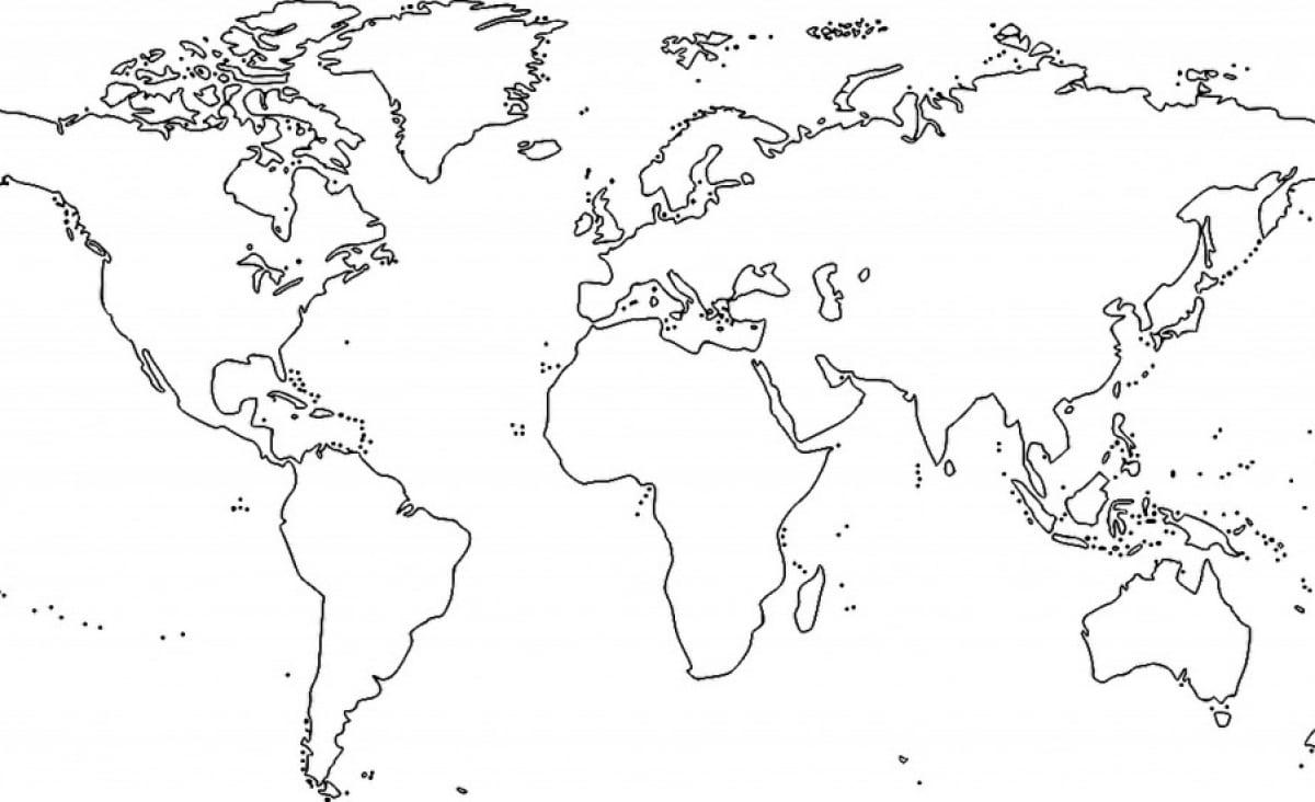 Mapa Mundial Para Pintar