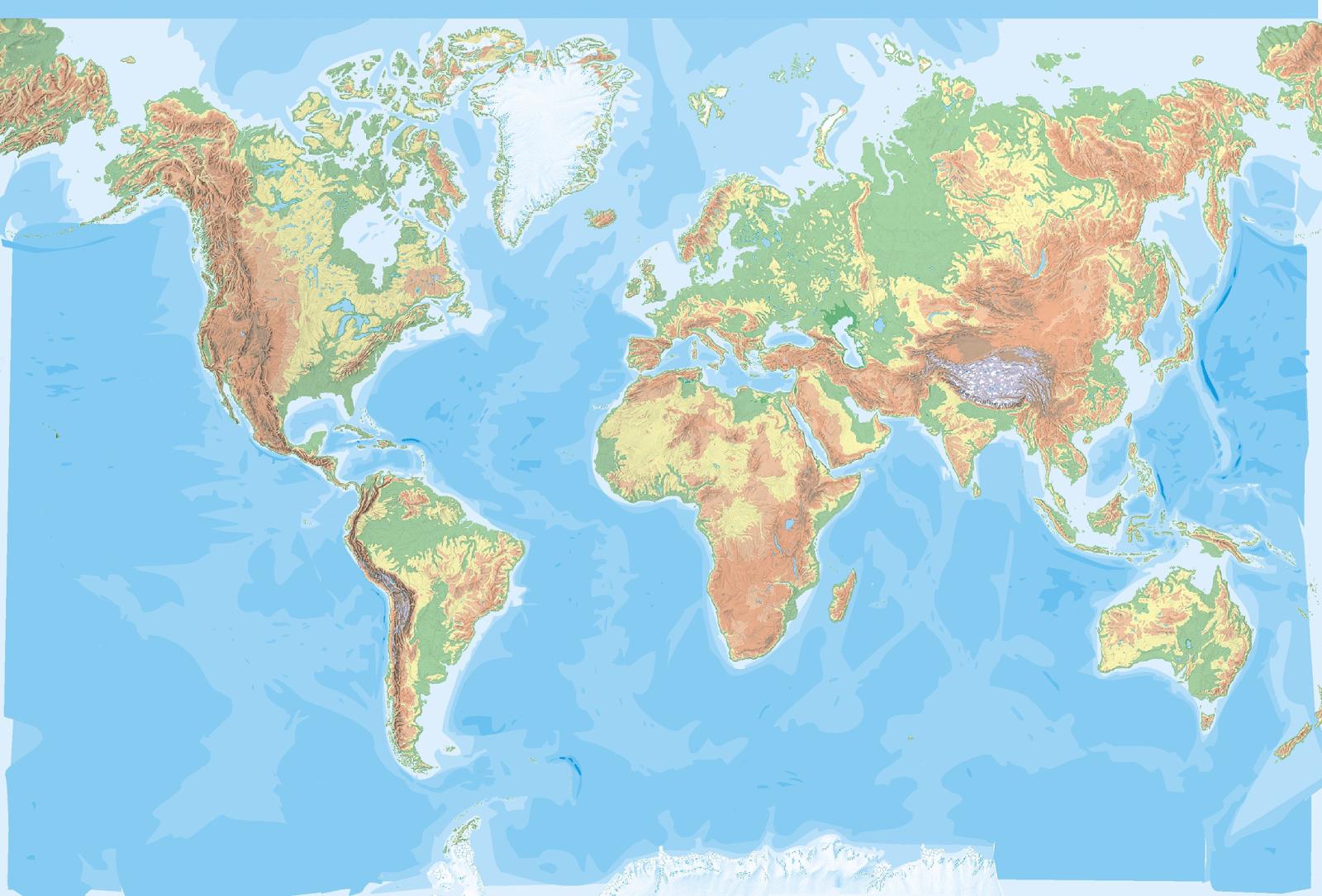 Mapamundi, 100 Mapas Del Mundo Para Imprimir Y Descargar Gratis