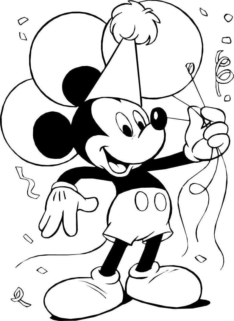 Mickey E Minnie Para Colorir E Imprimir