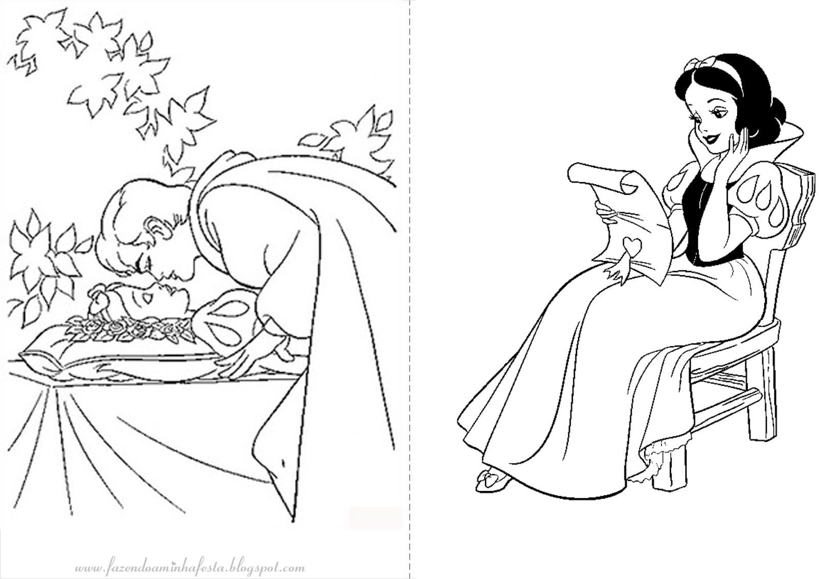 Desenho Da Branca De Neve Para Colorir