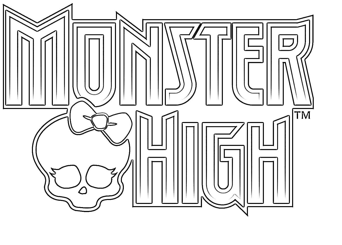 Desenho De Monster High Crânio Para Colorir