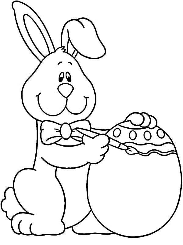 Desenhos Para Imprimir De Pascoa  Desenho De Cesta Com Ovos De