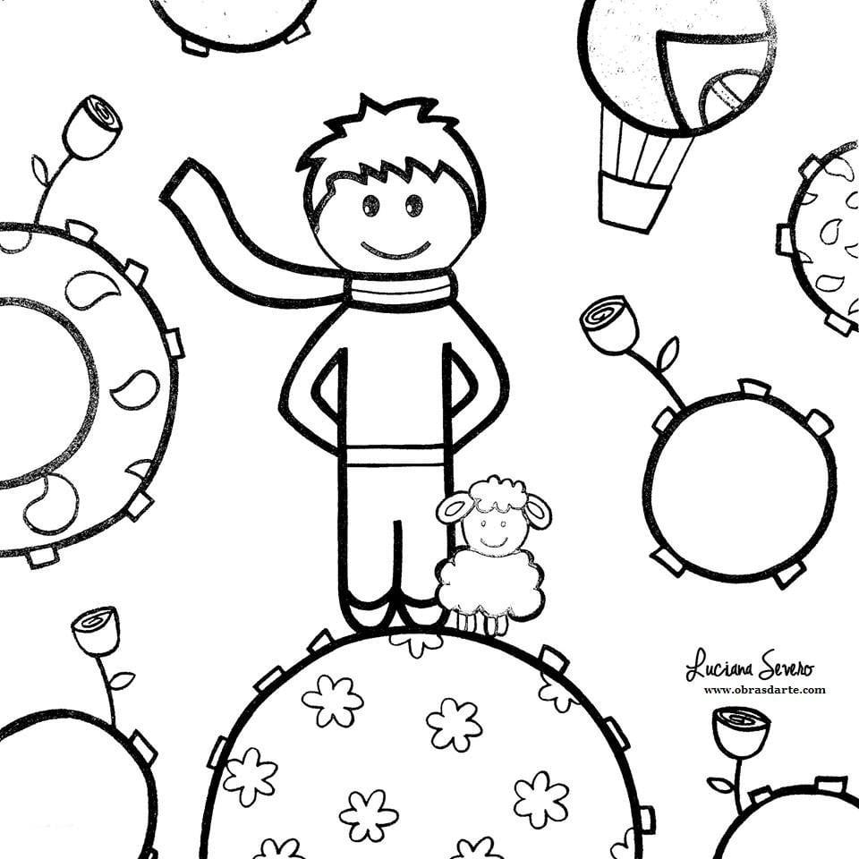 Pequeno Principe Para Colorir Sketch Coloring Page – Pampekids Net